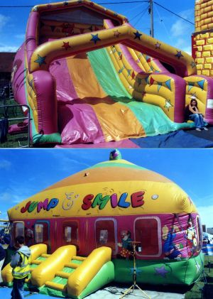 Jon Anton Presents...a Very Large Range of INFLATABLES, Bouncy Castles and Slides available of all sizes & styles. From the Traditional BOUNCY CASTLE with various theme decorations: Disney & Space Themes, TV Favourites & Cartoon Themes.