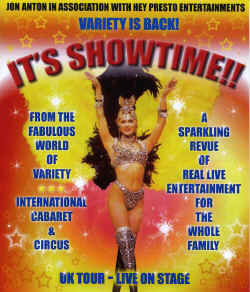 Jon Anton in Association with Hey Presto Entertainmets Presents - It's showtime!! Cabaret Is Back!